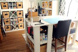 Pictures Of Craft Rooms - my craft room plus more craft room tours the country chic cottage