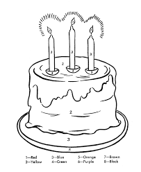 birthday cake coloring page printable birthday coloring pages of