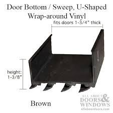 Door Bottom Sweeps For Exterior Doors How To Replace A Door Bottom Sweep Wrap Around And L