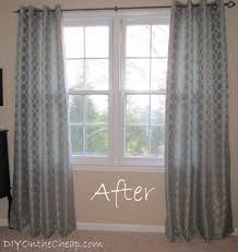 easy no sew hem for curtains erin spain we will be painting all of the furniture and eventually this space in front of the window