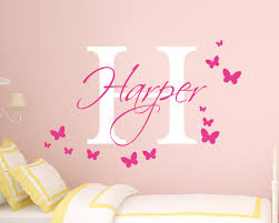 monogram stickers personalised name wall sticker name wall sticker