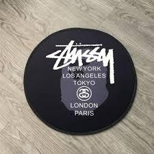 Paris Bathroom Rug by Aliexpress Com Buy High Quality Usa Stussy Round Carpet Anti