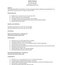 Sample Resume Of Nursing Assistant by Download Cna Sample Resume Haadyaooverbayresort Com