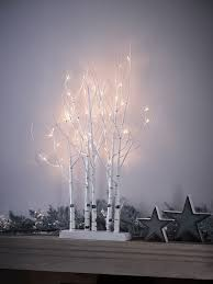 birch indoor outdoor light up tree cluster