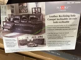 pulaski leather sofa costco pulaski furniture leather reclining sofa model 155 2475 401 726