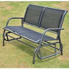 outsunny double swing chair outdoor garden patio glider bench