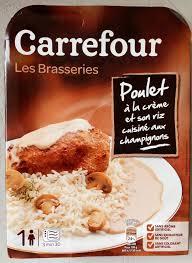poulet cuisiné les brasseries poulet à la crème et riz cuisiné aux