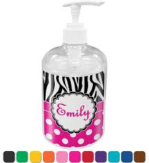 personalized soap zebra print polka dots soap lotion dispenser personalized