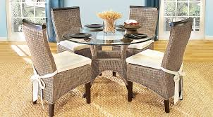 abaco rattan 5 pc round dining room dining room sets dark wood