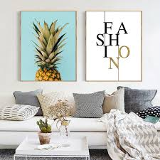 Nordic Decoration High Quality Pineapple Paintings Promotion Shop For High Quality