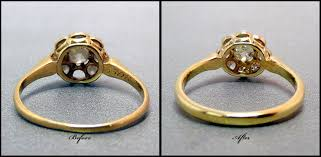 restoration of antique jewelery gold ring shank restoration vermont gem lab