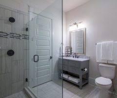 Mirrored Subway Tile Backsplash Bathroom Transitional With by Tulsa Oklahoma United States Grey Bathroom Vanity Home Bar