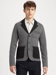 blazer sweater lyst marc by marc lenny sweater blazer in gray for