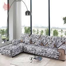 Printed Sofa Slipcovers Zebra Couch Home U0026 Garden Ebay