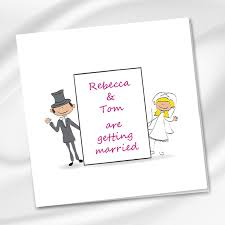 Bride To Groom Wedding Card Bride U0026 Groom Drawing Wedding Invitation Ireland Weddingprint Ie