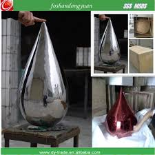 metal water sculpture for home decor stainless steel sculpture