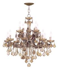 Wide Chandelier Crystorama 4479 Maria Theresa 30 Inch Wide 12 Light Chandelier