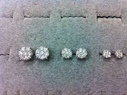 what size diamond earrings 1 4 carat diamond earrings actual size what is the size of half