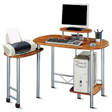 Swivel Computer Desk Computer Desk With Side Swivel Work Area Walmart
