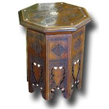 style 1154 hand carved octagon walnut side table design warehouse
