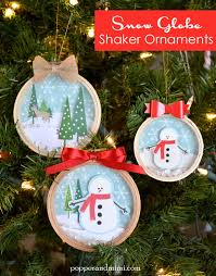 embroidery hoop snow globe shaker ornaments globe ornament and snow