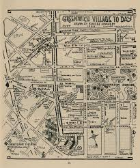 Bohemia Map Greenwich Village A Hand Drawn Map Of Its Notable Features In 1925