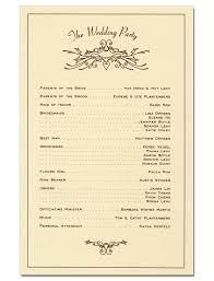Winter Wedding Programs Wedding Program Derek W Veigel
