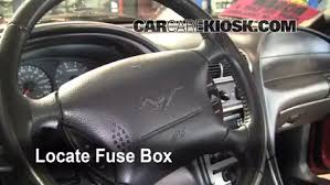 2007 ford mustang fuse box location interior fuse box location 1994 2004 ford mustang 2004 ford