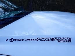 powerstroke 6 0 6 4 6 7 or 7 3 hood decals sold in sets of 2