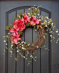 wreath summer wreath floral white by anextraordinarygift