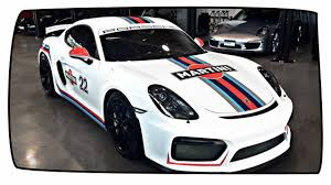 martini stripe porsche cayman gt4 looks spot on with martini racing stripes youtube