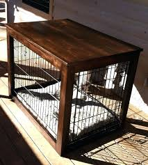 How To Build End Table Dog Crate by End Table Dog Crates Furniture Dog Crate End Table Building Plans