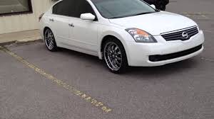 nissan altima custom rims 2009 nissan altima vct 20 inch wheels creative wholesale youtube