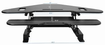 Stand And Sit Desk by Desk V000c Vivo Corner Deluxe Height Adjustable Tabletop Desk