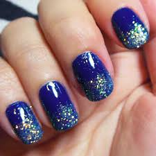navy blue nail polish designs how you can do it at home