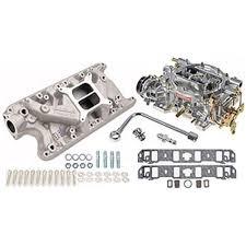 mustang intake manifold edelbrock intake manifold and carburetor kit performer 289 302
