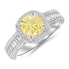 amazon com 4 75 carats 1 45 carat 14k white gold designer baguette and round cushion