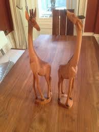 wooden giraffe ornaments in sheffield south gumtree