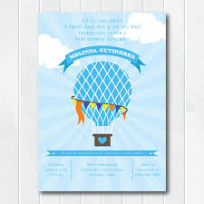 air balloon baby shower invitation up up and away baby shower