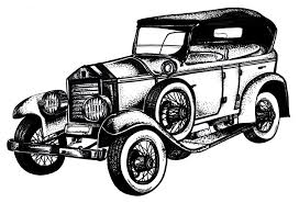 cars drawings classic car clipart oldies pencil and in color classic car