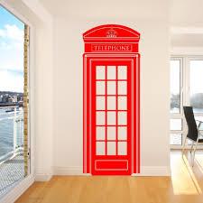 door decals uk front door glass stickers uk side window c185 lifesize telephone box phone box uklondon telephone box wall sticker retro uk phone decal mural