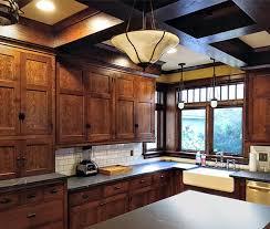mission style oak kitchen cabinets timber innovations historic craftsman style appleton wi