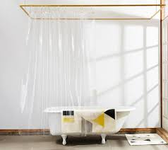 Transparent Shower Curtains A Trick For Small Spaces A Cup Of Jo