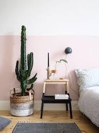 chambre en osier déco salon panier en osier avec cactus dans la chambre