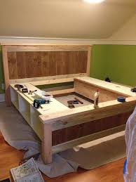 Platform Bed With Storage Building Plans by Bed Frames Ana White Storage Daybed Diy Twin Platform Bed With