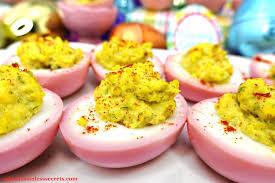 deviled eggs tray pink paleo deviled eggs sabrina s sinless secrets
