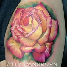 timpangburn rose rose tattoo realistic flower flowers realism color