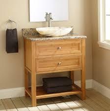 alluring narrow bathroom vanities with white marble vessel sink