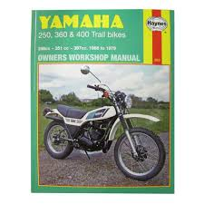 manual haynes for 1978 yamaha dt 400 e mx single shock ebay