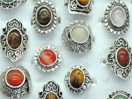 stone finger rings images Online cheap natural stone ring mix finger rings jewelry costume jpg
